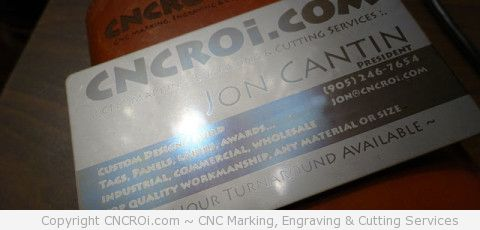 Laser Annealing 304 Stainless Steel Business Card