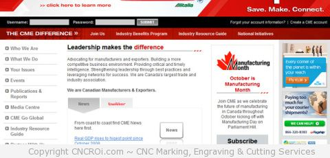 CNCROi.com is now a member of Canadian Manufacturers & Exporters (CME)!