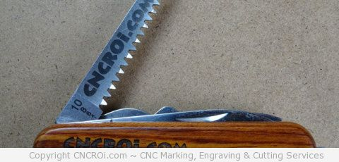 Engraving and Annealing a Pocket Knife