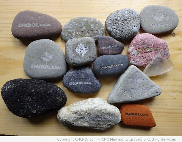 Laser Engraving Beach Pebble Stones