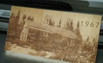 cnc laser engraving wood cottage