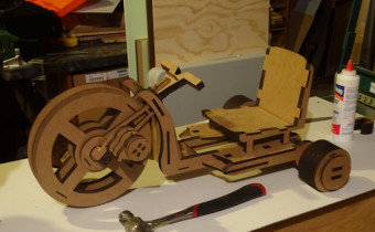 wooden laser cut big wheels