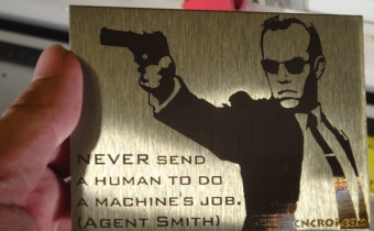 agent smith from matrix cnc stainless steel