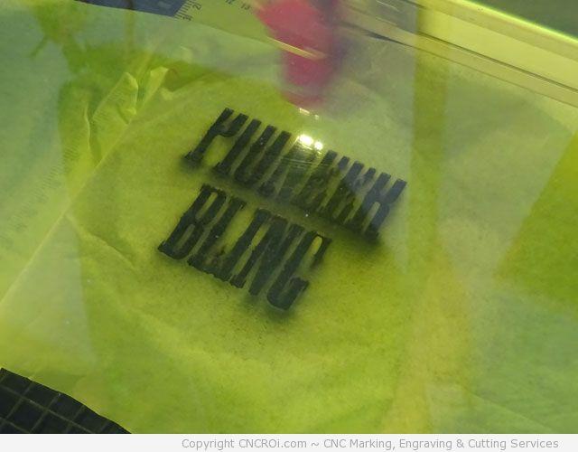 cnc laser engraving pioneer bling