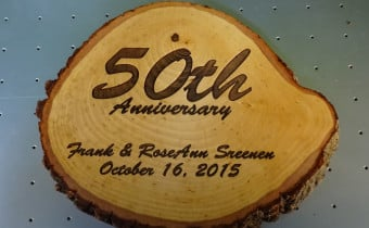 CNC Laser Engraving A 50th Anniversary Log