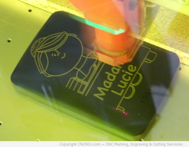 fiber laser color changing a hard drive, branding it