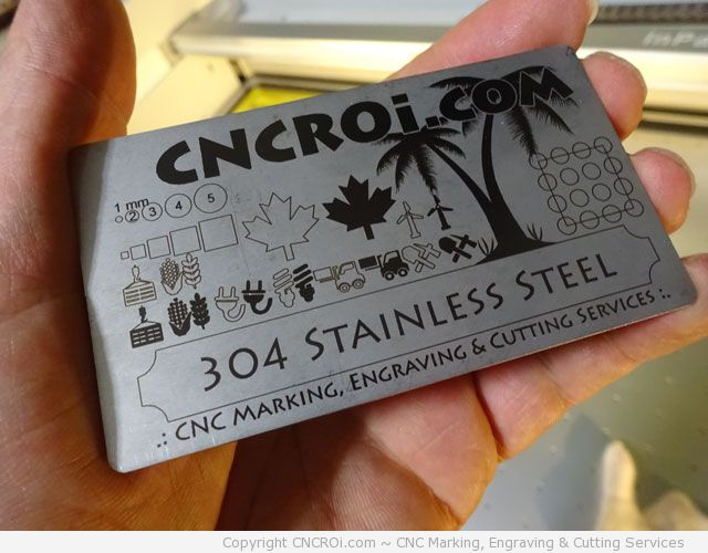 Annealing Stainless Steel Business Cards and Tags