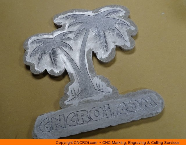 CNC Laser Engraving & Paint Filling Custom Corian Signage