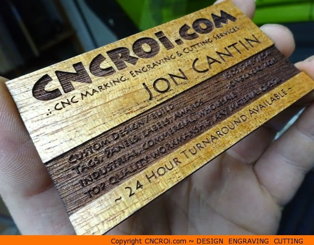 Custom Veneer Business Cards