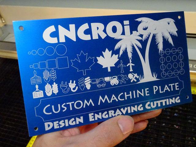 Custom Machine Identification Plates