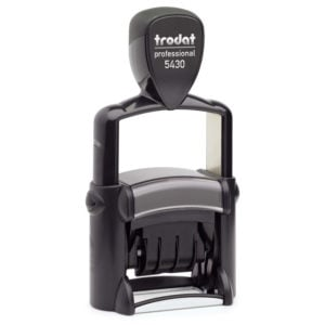 "trodat-5430Lb-300x300 Trodat Professional 5430/L Custom Self-Inking Stamp (24 x 41 mm or 1 x 1-5/8"" with stock text)"