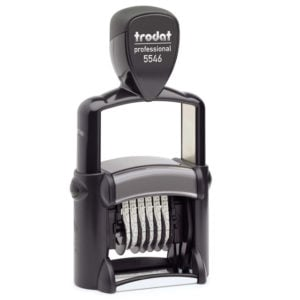 "trodat-5546-300x300 Trodat Professional 5546 Custom Self-Inking Stamp (4 mm or 0.15"" high NUMBERER ONLY)"