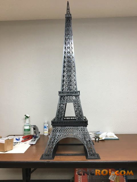 Custom Metal Eiffel Tower Cnc Laser Cut